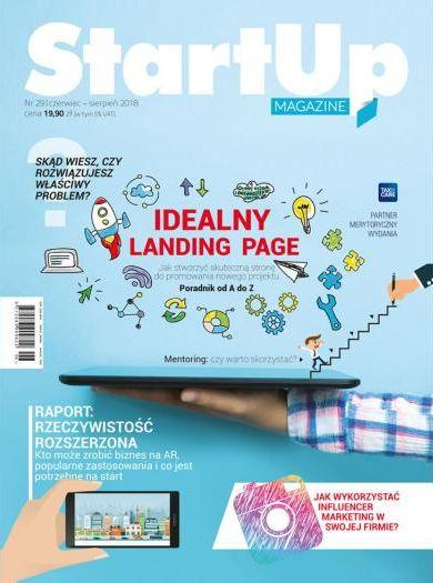 Startup Magazine awnim m. in. idealny landing page